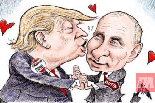 Картинки по запросу карикатура Трамп і Путін